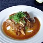鶏肉のシークワーサーとハチミツ甘酢煮